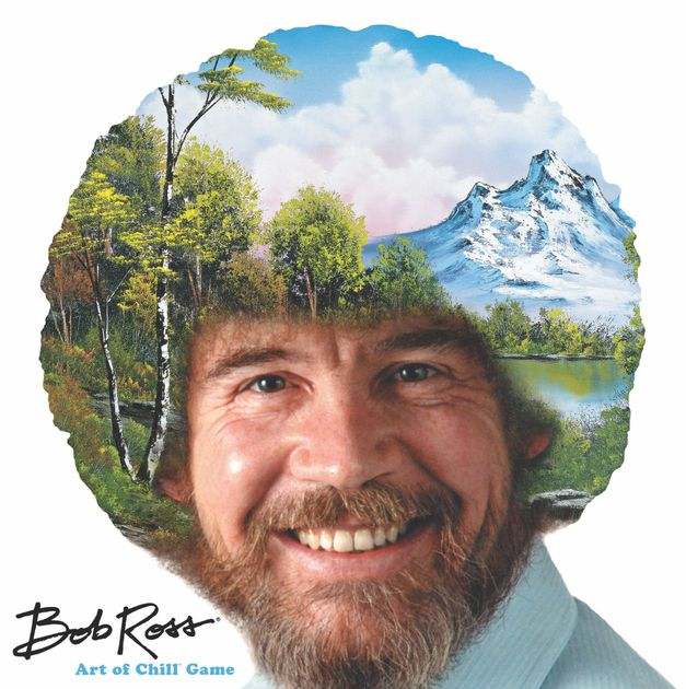 Bob ross art of chill game board game boardgamegeek for Painting games com