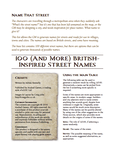 RPG Item: 100 (And More) British-Inspired Street Names