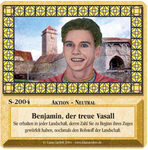 Board Game: Die Siedler von Catan: Das Kartenspiel – Sonderkarte 2004 – Benjamin, der treue Vasall