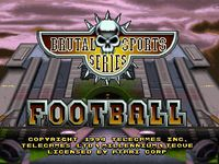 Video Game: Brutal Sports Football
