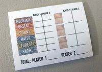 Board Game Accessory: Circle the Wagons: Score Pad