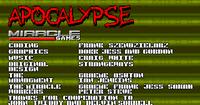 Video Game: Apocalypse