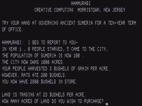 Video Game: Hamurabi (1968)