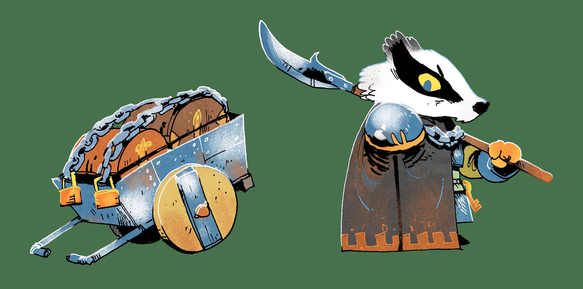 Art for the Badger faction by Kyle Ferrin
