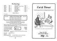 Issue: Cut & Thrust (Issue 224 - Nov 2003)