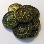 Board Game Accessory: Scythe: Promo Pack #10 – $2 Albion Metal Coins