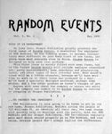 Issue: Random Events (Issue 1 - May 1980)