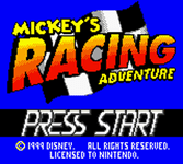 Video Game: Mickey's Racing Adventure