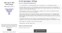 RPG Item: A is for Apocalypse