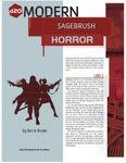 RPG Item: Sagebrush Horror