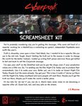RPG Item: Cyberpunk Red Screamsheet Kit
