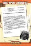 RPG Item: Threat Report #15: Cerebrus Rex