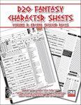 RPG Item: D20 Fantasy Character Sheets Volume 3: Arcana Evolved
