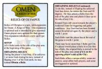 Board Game: Omen: A Reign of War – Relics of Olympus