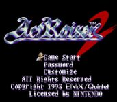 Video Game: ActRaiser 2