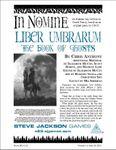 RPG Item: Liber Umbrarum