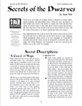 RPG Item: Secrets of the Dwarves