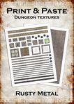 RPG Item: Print & Paste Dungeon Textures: Rusty Metal