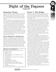 RPG Item: Night of the Pegasus