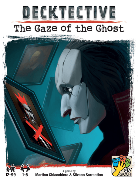 Decktective: The Gaze of the Ghost, dV Giochi, 2020 — front cover (image provided by the publisher)
