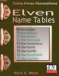 RPG Item: Elven Name Tables