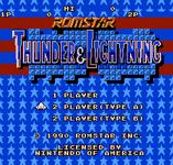 Video Game: Thunder & Lightning