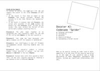 """RPG Item: Dossier #2: Codename """"Spider"""""""