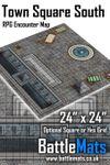 RPG Item: Town Square South RPG Encounter Map