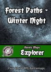 RPG Item: Heroic Maps Explorer: Forest Paths: Winter Night