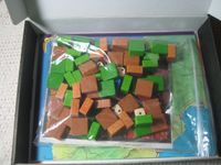 The unstickered blocks & dice come in a large zip-lock bag.