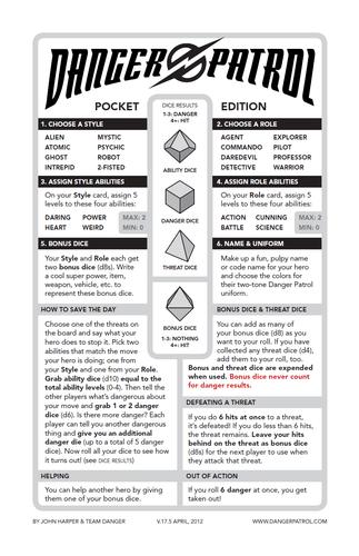 RPG Item: Danger Patrol (Pocket Edition)