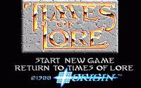 Video Game: Times of Lore