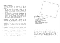 """RPG Item: Dossier #1: Codename """"Nitro"""""""