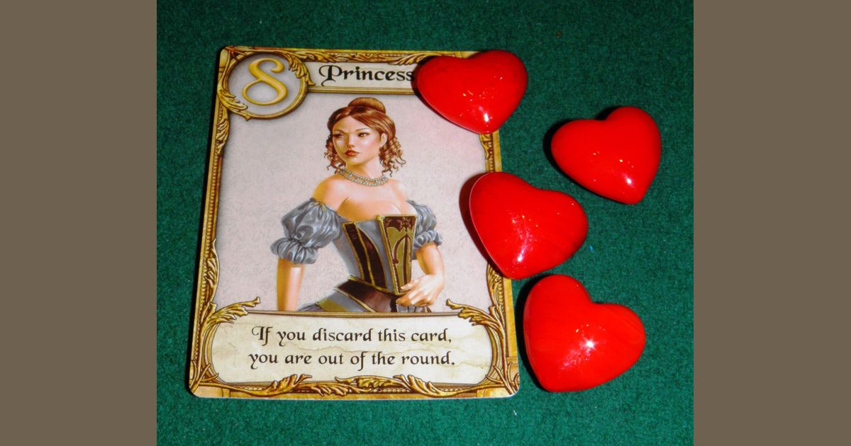 love letter heart tokens  board game accessory