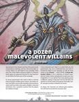 RPG Item: A Dozen Malevolent Villains