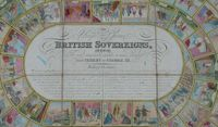 Board Game: Royal Game of British Sovereigns: Exhibiting the most remarkable events in each reign from Egbert to George III