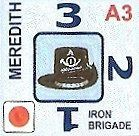 Some units have their own distinctive symbol. Here the Iron Brigade has it's famous black hat as it's symbol instead of the crossed rifles you find on most other units.