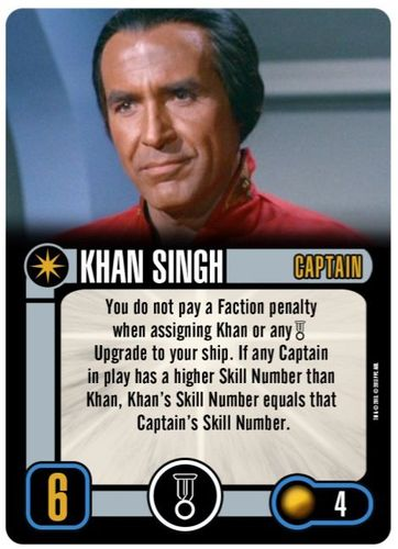 Board Game: Star Trek: Attack Wing – Khan Singh