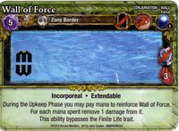Board Game: Mage Wars: Wall of Force Promo Card