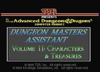 RPG Item: Dungeon Masters Assistant Volume II: Characters & Treasures