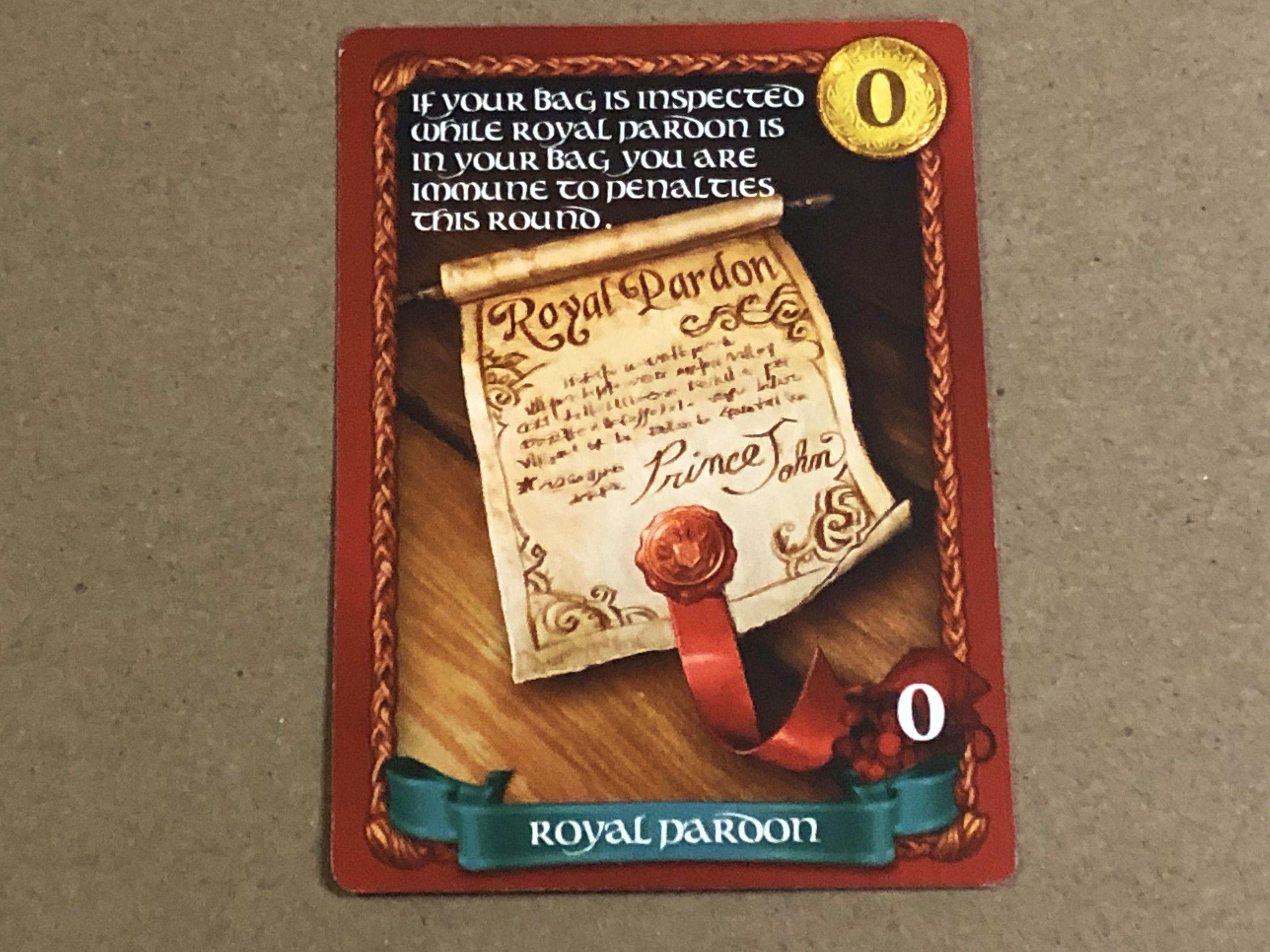 Sheriff of Nottingham: Royal Pardon Promo Card