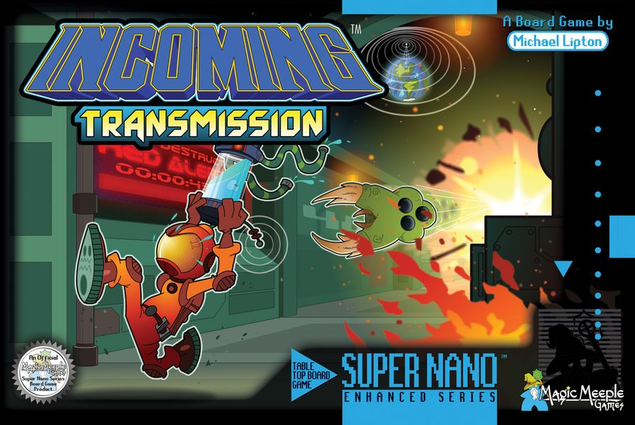 Flat-facing box cover for Incoming Transmission! On Kickstarter now!