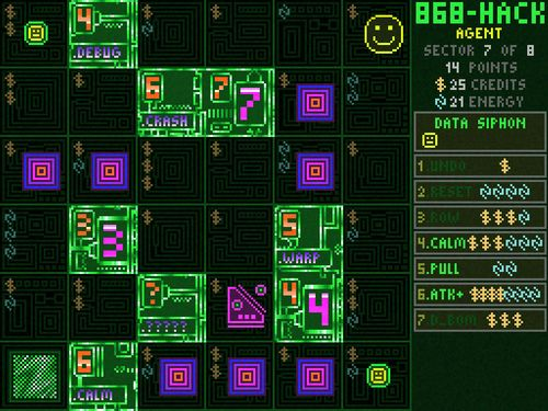 Screen shot from Michael Brough's 868-HACK video game