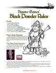 RPG Item: Bizzaro Games' Black Powder Rules