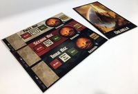Board Game Accessory: Blood Rage: Cardboard Age Track & Valhalla Tiles