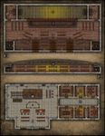 RPG Item: VTT Map Set 089: Theatre with Balcony & Town Courthouse