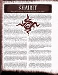RPG Item: Bloodline: Khaibit