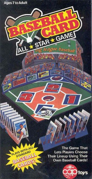 Image result for baseball card dice game