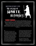 RPG Item: The College of White Necromancy