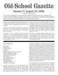 Issue: Old-School Gazette (Issue 2 - Aug 2006)